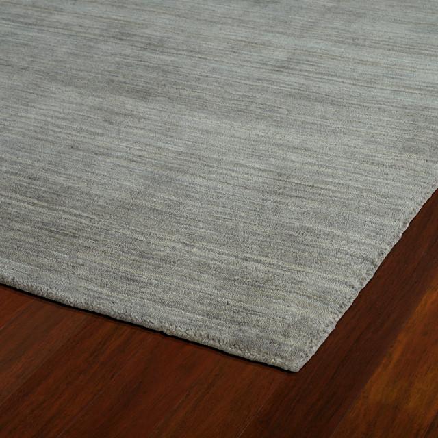 Kaleen Hand Made Renaissance Wool Rug, Silver, 9&x27;6x13&x27;.