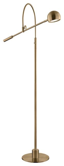 Randall Floor Lamp, Antique Brass.