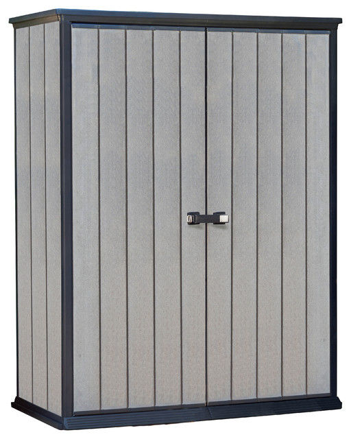 Keter High Store Vertical Outdoor Resin Storage Shed