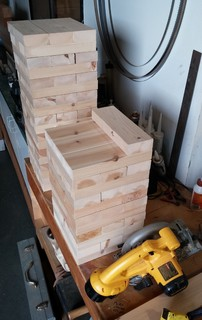 how to make a giant jenga set