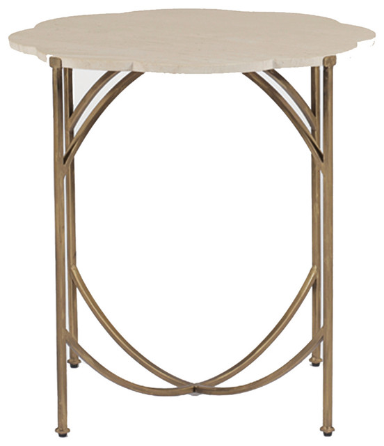 Gabby Gillian Limestone Accent Table Mediterranean Coffee Tables