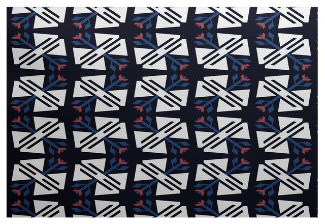 Jodhpur ditsy geometric print indoor and outdoor rug for Geometric print area rugs
