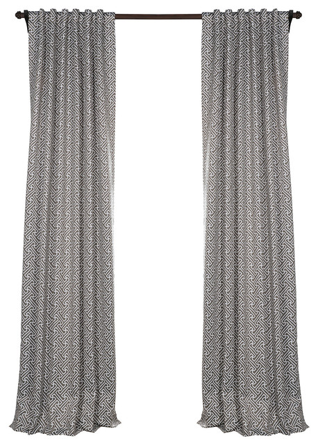 "Cobblestone Taupe Blackout Curtain, Pair, 50""x84""."