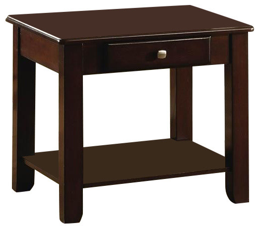 Homelegance ballwin end table with functional drawer in for Functional side table