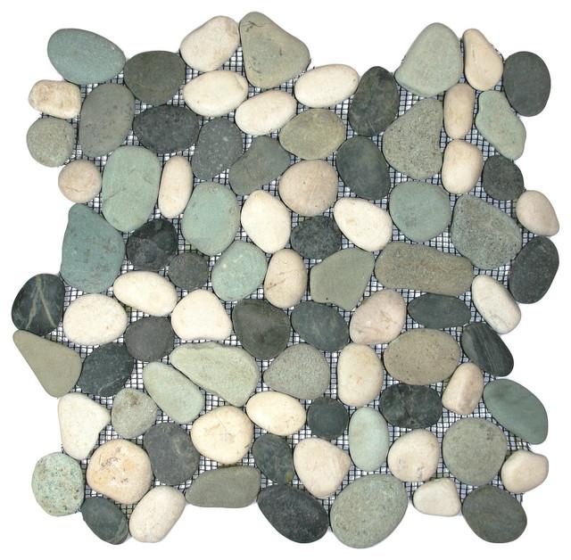 "12""x12"" Bali Turtle Pebble Tile"
