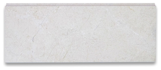 Crema Marfil Marble Baseboard Trim Molding 5x12 Polished
