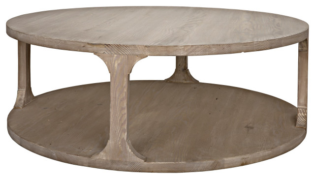 Reclaimed Lumber Gimso Round Coffee Table Farmhouse Coffee Tables By Cfc