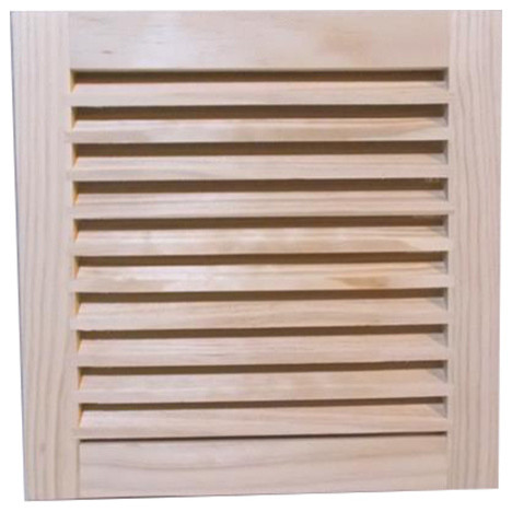 Wood Return Air Grille, 12x12, Standard Square Edge.