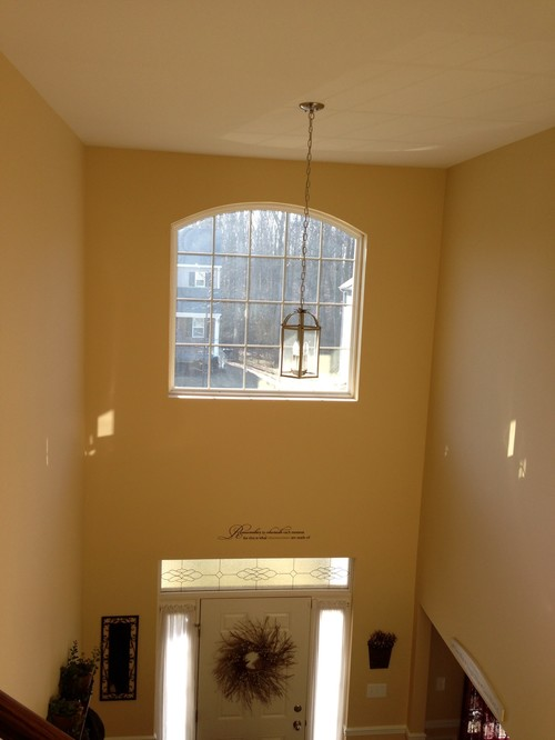 Houzz Two Story Foyer : Need help with second story arched foyer window