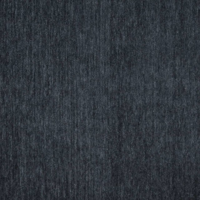 Blue, Solid Plush Soft Chenille Upholstery Fabric By The Yard