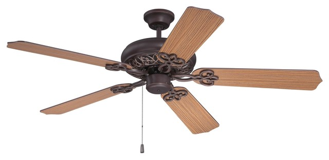 """Craftmade Cecilia 52"""" Aged Bronze Textured Ceiling Fan Included With 5 Blades."""