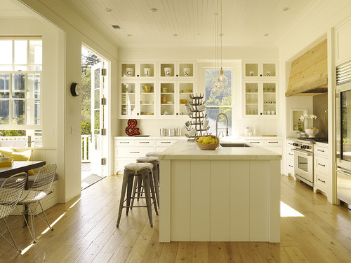 Central island & breakfast nook contemporary kitchen