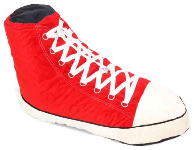 Phenomenal Hightop Sneaker Adult Sized Beanbag Red 34X19X21 Hi Top Sneaker Machost Co Dining Chair Design Ideas Machostcouk