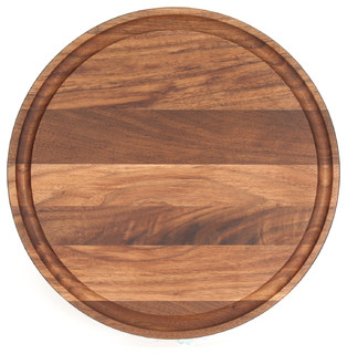 BigWood Boards Round Walnut Cheese Board