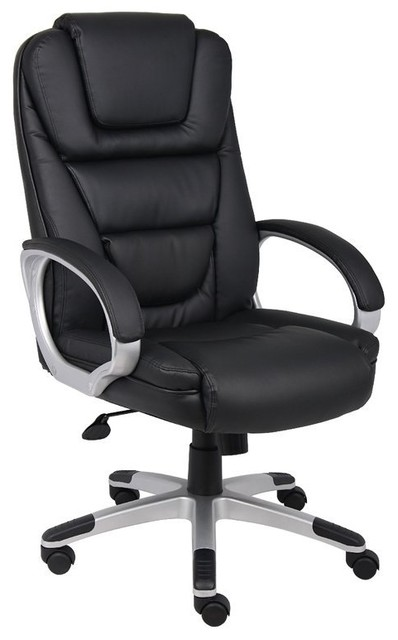 High Back Pu Leather Executive Chair Office, Swivel Chair, Bomber Brown