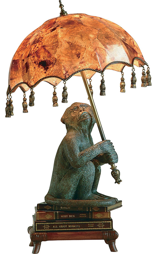 Monkey On Books Desk Lamp Eclectic Desk Lamps By