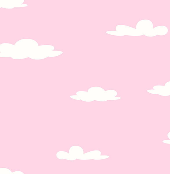 Clouds Pink Clouds Wallpaper Swatch