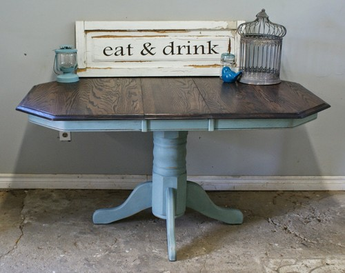 refurbished kitchen table country just purchased this refurbished kitchen table and need ideas for chairs that would work well thanks fyi is my first houzz post loris decoration