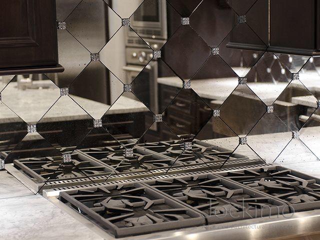 Merveilleux Private Residence Antique Mirror Backsplash Tiles ...
