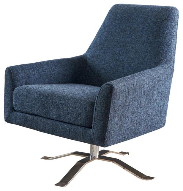 Magnificent Gdf Studio Alice Modern Fabric Swivel Club Chair Indigo Weave Squirreltailoven Fun Painted Chair Ideas Images Squirreltailovenorg