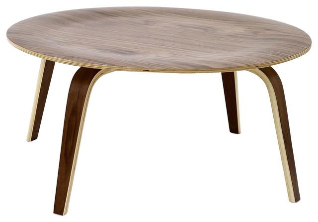 Modern Contemporary Living Room Wood Coffee Table Walnut