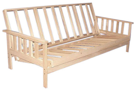 fastfurnishings full size solid wood futon sofa bed frame