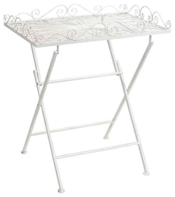 Folding Stand Tray, White.
