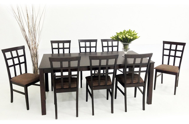 Bon Warehouse Of Tiffany 9 Piece Light Cappuccino Justin With Juno Dining  Furniture