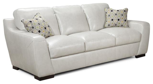 Simon Li Leather Sofa, Vanilla Ice Modern Sofas