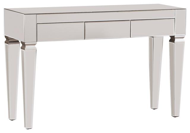 Holston Contemporary Mirrored Console, Contemporary Mirrored Console Table