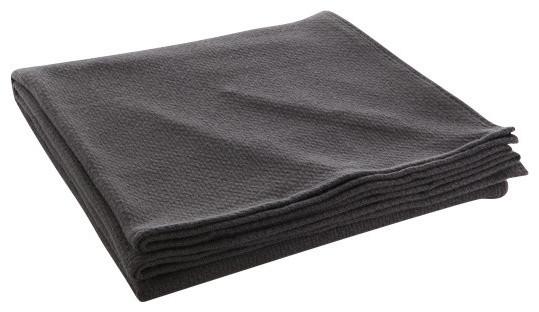 Thermal Weave Wool Blanket Charcoal Twin