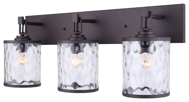 CANARM LTD   Canarm Cala 3 Light Vanity With Watermark Glass, Oil Rubbed  Bronze