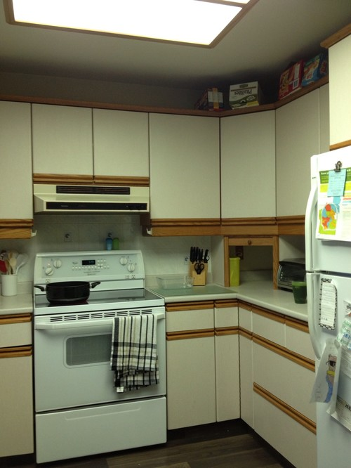 Kitchen dilemma - Painting wood laminate kitchen cabinets ...