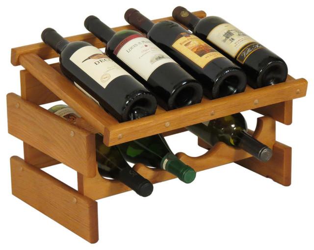 Wooden Mallet 8-Bottle Dakota Wine Rack With Display Top