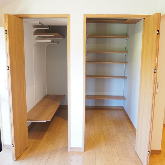追加した収納スペース