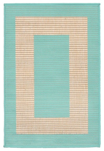 Trans Ocean Terrace Border 1786 93 Outdoor Rug Turquoise Contemporary Rugs By Arearugs