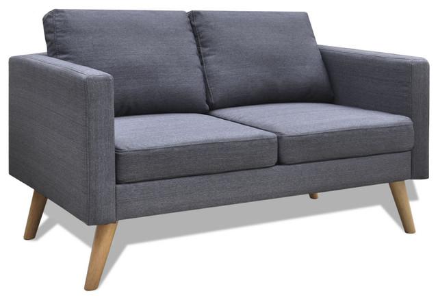 Vidaxl 2 Seater Sofa Fabric Dark Gray