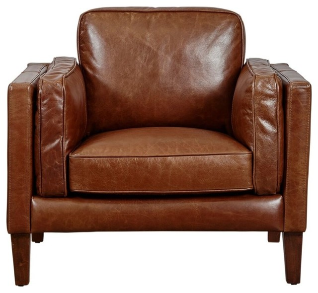 Lazzaro Leather Berkley Chair Transitional Armchairs