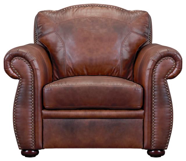 Marquette Italian Leather Club Chair