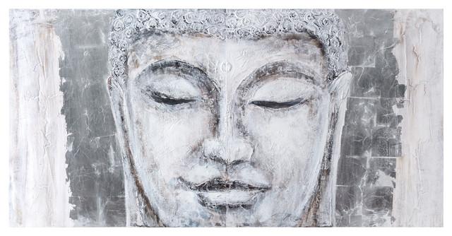 Buddha 2-Panel Painted Wall Art. -1
