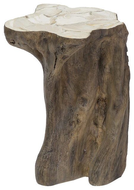 Awe Inspiring Palecek Chloe Rustic Fossilized Natural Tree Trunk Side End Table Home Interior And Landscaping Eliaenasavecom