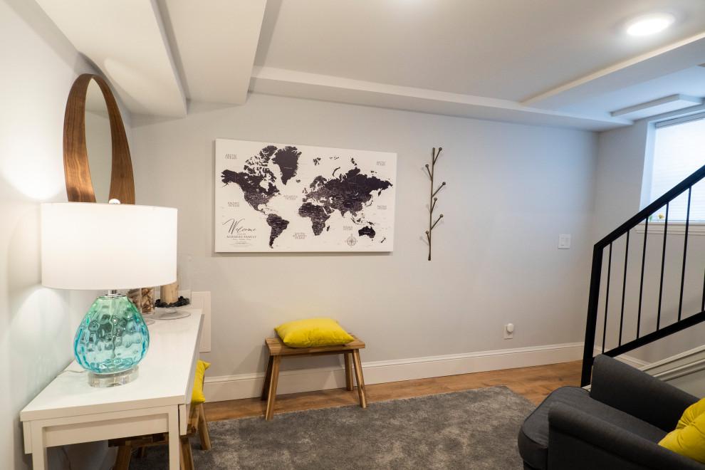 Home design - mid-sized transitional home design idea in Denver