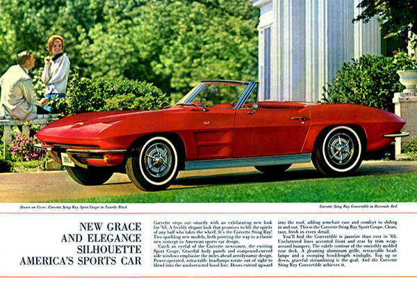 New Lines New Leap 1962 Chevrolet Corvette Promotional Advertising Poster