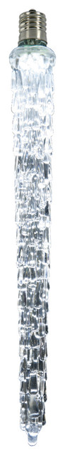 18 Led Falling Icicle Clear Lights Bulb E12, Cool White.