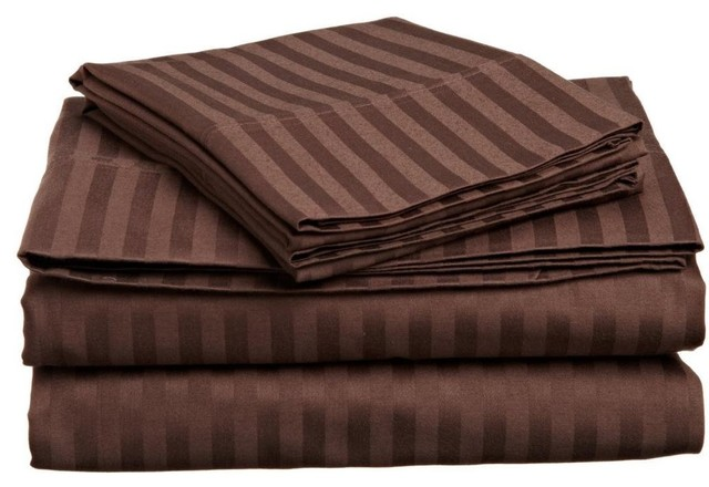 Madrid Taupe Beige Ultra Modern Living Room Furniture 3: Lux Decor Collection Ultra-Soft Luxury 4 Piece Bed Sheet