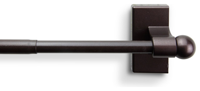 """Magnetic Curtain Rod 17-30"""", Cocoa"""