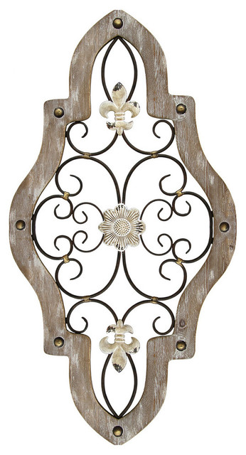Stratton Home Decor French Country Scroll Wall Decor.