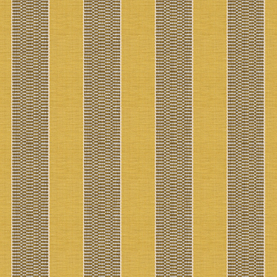 Yellow and Taupe Stripe Woven Fabric