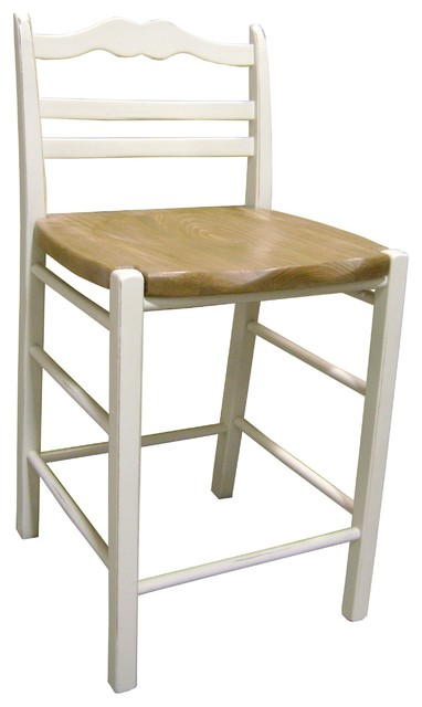 24 Quot Ladderback Counter Stool With Pine Seat Farmhouse