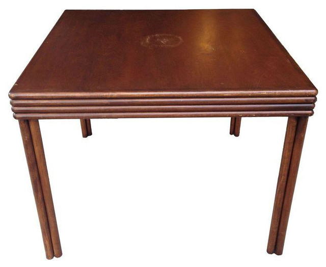 McGuire Bamboo Game Table   $1,200 Est. Retail   $399 On Chairish.com  Contemporary